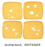 Slices Of Smoked Cheese On...