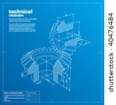 gears blueprint vector... | Shutterstock .eps vector #40476484