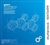 gears blueprint vector... | Shutterstock .eps vector #40476499