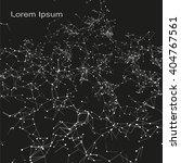 plexus atomic lattice in the... | Shutterstock .eps vector #404767561