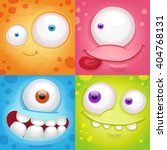 cartoon monster faces | Shutterstock .eps vector #404768131