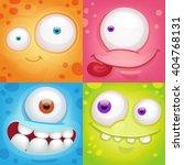 cartoon monster faces | Shutterstock .eps vector #404768131