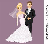 beautiful bride and groom | Shutterstock .eps vector #404768977