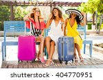 three beautiful fashion girls... | Shutterstock . vector #404770951