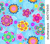 vector seamless geometric cute... | Shutterstock .eps vector #404774545