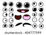 vector cute cartoon eyes and... | Shutterstock .eps vector #404777599