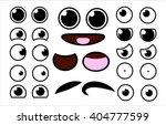 Vector Cute Cartoon Eyes And...