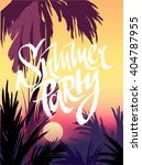 summer vector poster beach... | Shutterstock .eps vector #404787955