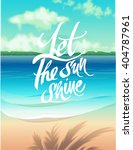 summer vector poster beach and... | Shutterstock .eps vector #404787961