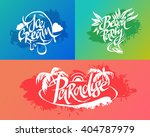set of summer lettering labels | Shutterstock .eps vector #404787979