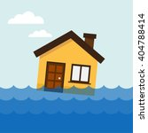 home flooding under water.... | Shutterstock .eps vector #404788414
