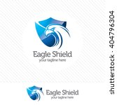 eagle shield security logo  ... | Shutterstock .eps vector #404796304