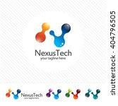 letter n logo design.... | Shutterstock .eps vector #404796505