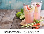 strawberry and lime lemonade in ... | Shutterstock . vector #404796775