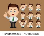 cute set   set of businessman | Shutterstock .eps vector #404806831