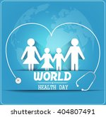 world health day concept with... | Shutterstock .eps vector #404807491