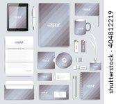 grey set of vector corporate... | Shutterstock .eps vector #404812219