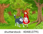illustration of little red hood ... | Shutterstock .eps vector #404813791