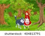illustration of little red hood ... | Shutterstock .eps vector #404813791