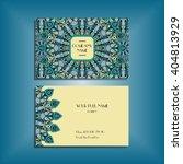 oriental business card mockup... | Shutterstock .eps vector #404813929
