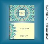 oriental business card mockup... | Shutterstock .eps vector #404813941