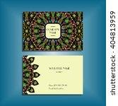 oriental business card mockup... | Shutterstock .eps vector #404813959