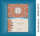 oriental business card mockup... | Shutterstock .eps vector #404813971