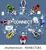 connect online social media... | Shutterstock . vector #404817181