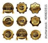 elegant anniversary golden... | Shutterstock . vector #404823511