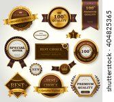 luxury premium quality labels... | Shutterstock . vector #404825365