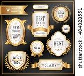 elegant golden premium labels... | Shutterstock .eps vector #404828551