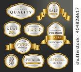 luxury premium labels set... | Shutterstock .eps vector #404828617