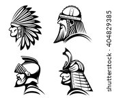 ancient warriors profiles of... | Shutterstock .eps vector #404829385
