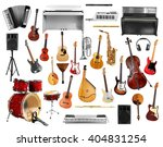 collage of musical instruments...   Shutterstock . vector #404831254