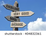wooden signpost with four... | Shutterstock . vector #404832361