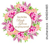 invitation with floral... | Shutterstock . vector #404834485