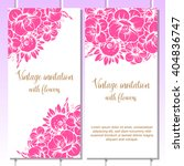 invitation with floral... | Shutterstock . vector #404836747