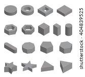 monochrome set of geometric... | Shutterstock .eps vector #404839525