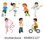 sports kids are doing in... | Shutterstock .eps vector #404841127
