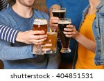 group of young people spending... | Shutterstock . vector #404851531