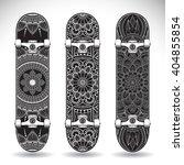 set of skateboards with mandalas | Shutterstock .eps vector #404855854