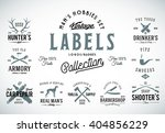 set of vintage icons  labels or ... | Shutterstock .eps vector #404856229