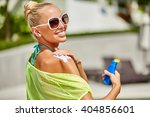 close up of young woman in... | Shutterstock . vector #404856601