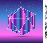 abstract isometric octahedron... | Shutterstock .eps vector #404860339
