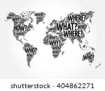 question words world map in... | Shutterstock .eps vector #404862271