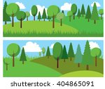 color set trees  forest  wood ... | Shutterstock .eps vector #404865091