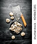 fresh sliced mushrooms with the ... | Shutterstock . vector #404865181