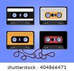 hifi audio tape   casette. old...   Shutterstock .eps vector #404866471