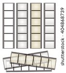 set of film strip with... | Shutterstock .eps vector #404868739