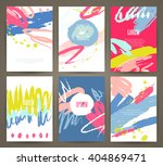 set of brochures with hand... | Shutterstock .eps vector #404869471